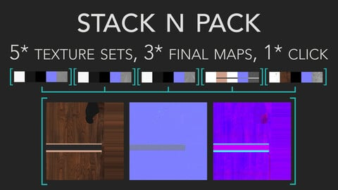 Stack N Pack - Texture Set Merging