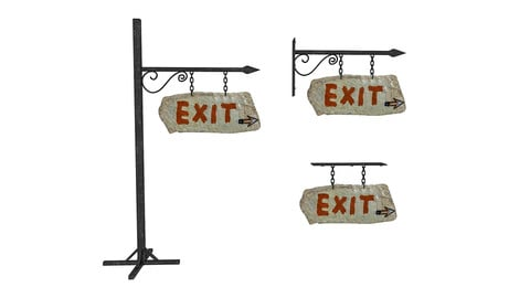 old stone exit sign 02