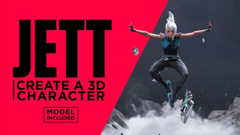 Jett : Create a 3D character