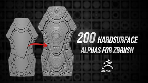 200 Hardsurface Alphas