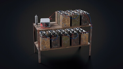 Handmade battery bank