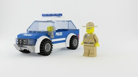 Lego Patrol Car & Minifigure Set