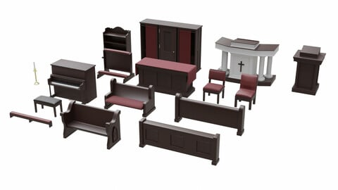 Church Furniture Asset Collection