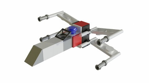 Miniature Lego X-Wing