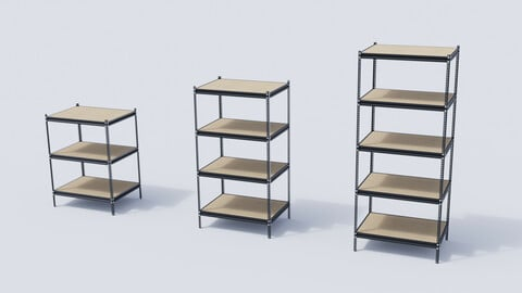 Industrial Metal Shelf Collection