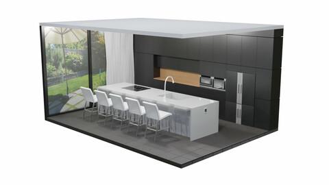 Modern Kitchen Scene