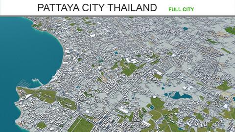 Pattaya City Thailand 3d model 40km