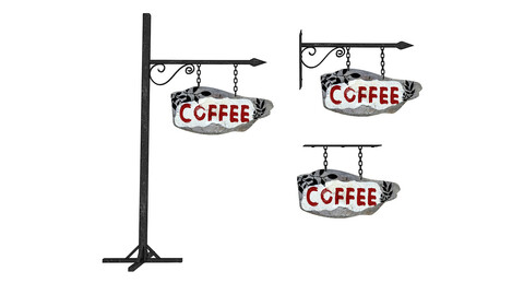 old wooden coffee sign 02