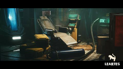 CyberPunk Laboratory / Research Center Interior Kitbash