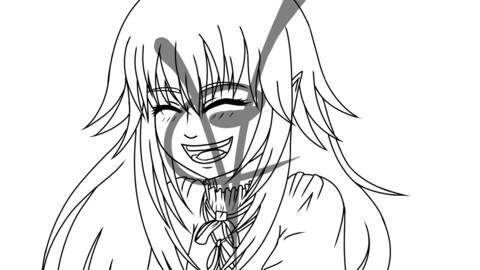 Cute Smile - Lineart