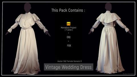 MD Vintage Wedding Dress