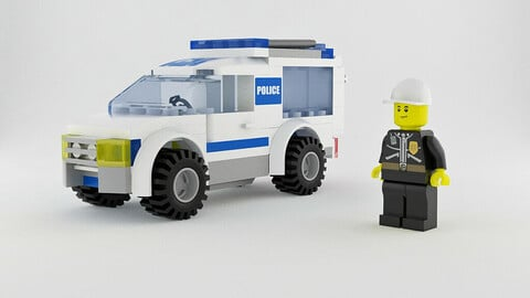 Lego Patrol Van & Police Officer Set