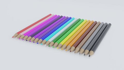 Wooden Pencil Crayon Set
