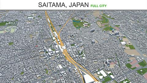 Saitama city  Japan 3d model 40km