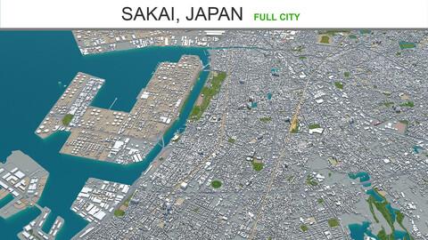 Sakai city  Japan 3d model 50km