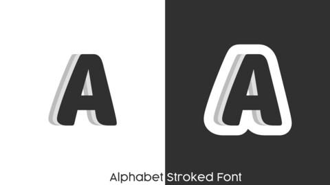 Alphabet Stroked Font AI