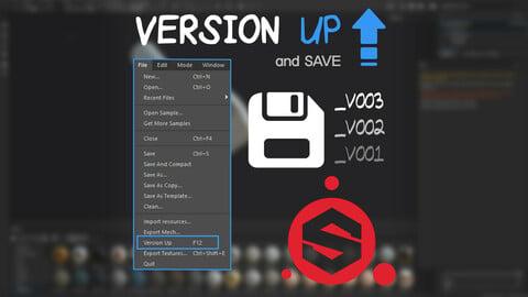 Version Up and Save - Substance Painter Plugin Python