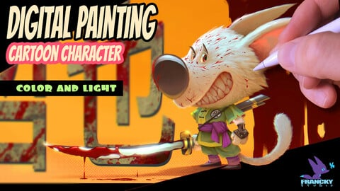 Digital Painting - Cartoon Character - Color and Light (step by step)