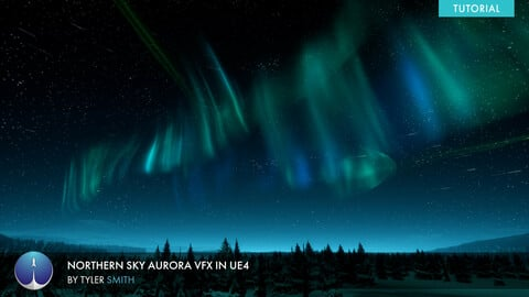 Creating Starry night and Aurora Borealis VFX in UE4 | Tyler Smith