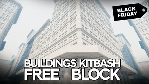 BUILDINGS KITBASH Free Sample