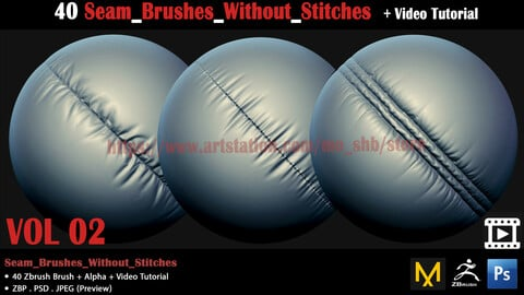 40 Seam_Brushes_Without_Stitches
