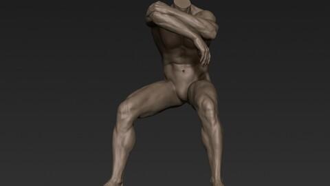 Male Full Body Sculpt Pose 6