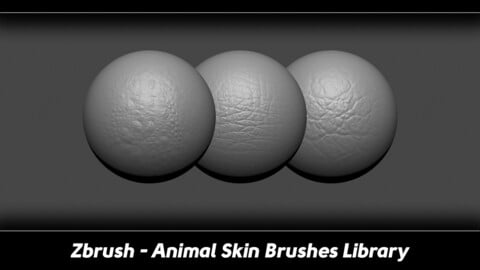 Zbrush - 100 Animal Skin Brushes Library