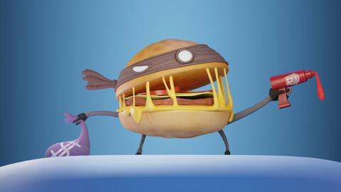 Burger Heist - Stylized Character