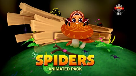 Spiders animation pack