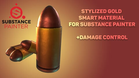 Stylized Gold Smart Material for Substance Painter