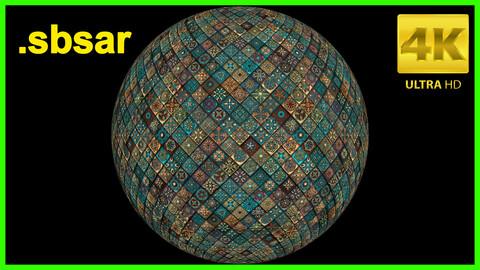 Colorful Tile Material Design / Substance Painter