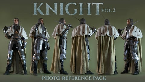 Knight vol. 2 Photo Reference Pack +370 JPEGs