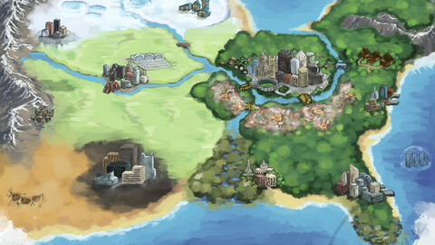 MAP INSIPRED FOR POKEMON GAMES