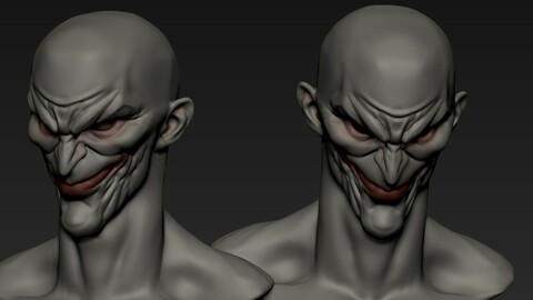 Male comic enemy head