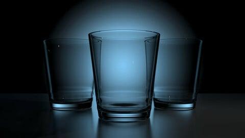 glass cup model 3D