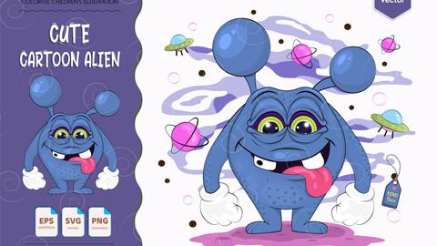 Cute cartoon alien