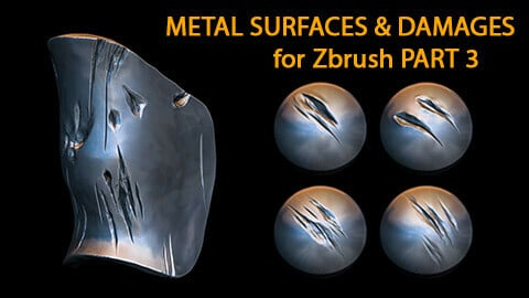 Metal Surfaces & Damages Brushes 3 for Zbrush (2019+)