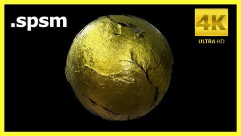 Golden Mine Smart Material Design / Spsm / Substance Painter / Last Gamer