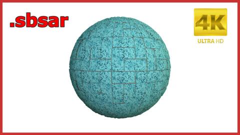 Parquet Blue Material Design / Sbsar / Substance Painter / Last Gamer