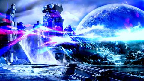 Concept Art - Science Fiction - landscape - sci-fi - Digital painting - game art - photo manipulation - environment