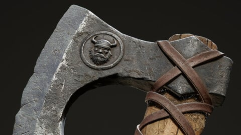 Real-time Game-ready Viking Axe