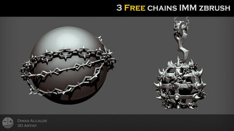 ⛓️ FREE 💸DUNGEON chains [IMM ZBRUSH Brushes] 🔗
