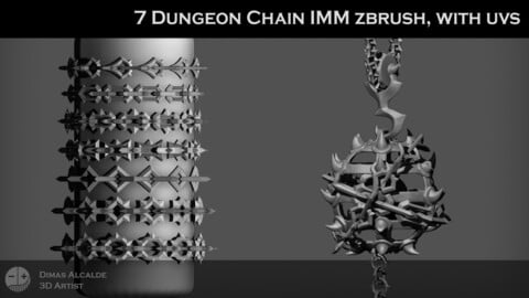 Dungeon Chain IMM zbrush, with uvs