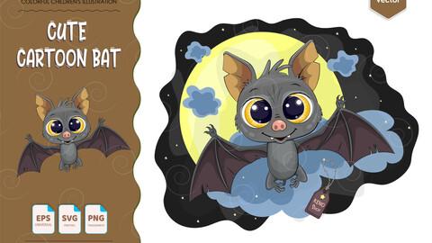 Cute cartoon bat