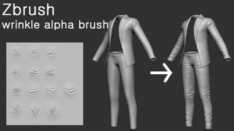 Zbrush wrinkle alpha brush