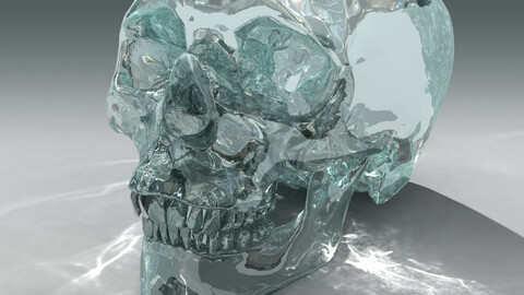 Crystal Skull 3D CG Kit