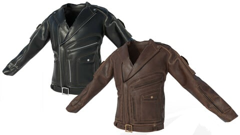 Low poly Male Leather Jacket