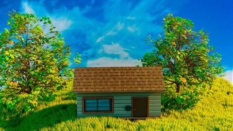Grassy Meadow Scene