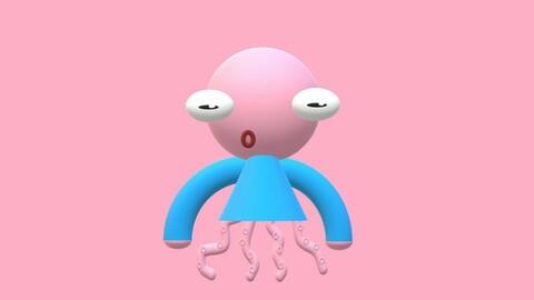 3D Minimalist Octopus