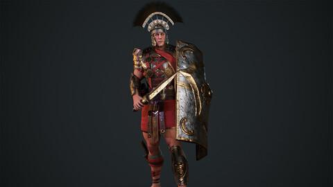 Gladiator Legionary Low-poly 3D model